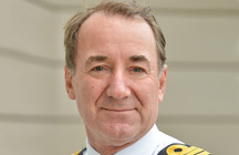 Portrait of First Sea Lord Admiral Sir George Zambellas of the Royal Navy
